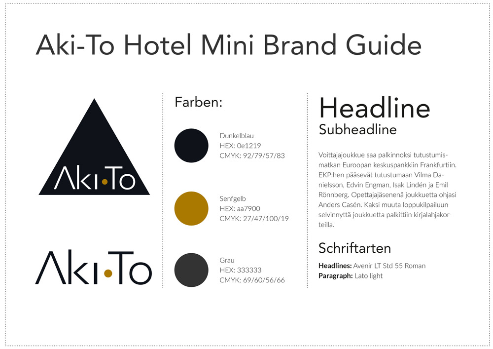 Mini Brand Guide for Aki-To